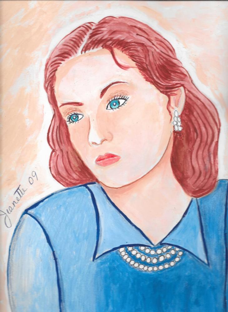 Greta Garbo by Jeanette
